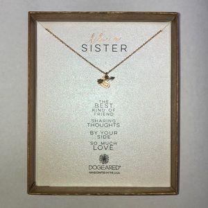 "Dogeared ""Like a Sister"" Heart and Arrow Necklace"